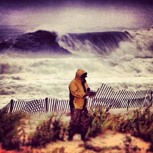 Al Roker Today show Hurricane Sandy in Point Pleasant NJ