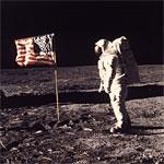 neil armstrong moon flag
