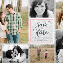 save the date shutterfly multi photo collage