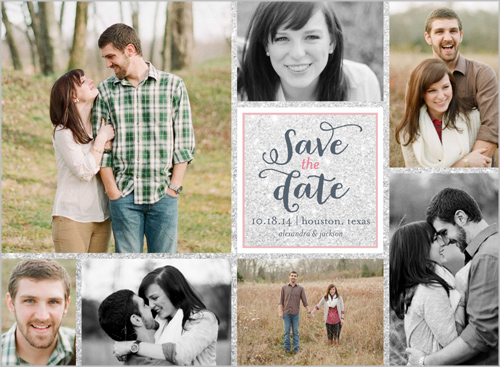 save date shutterfly - multi photo collage design - OMG Photos