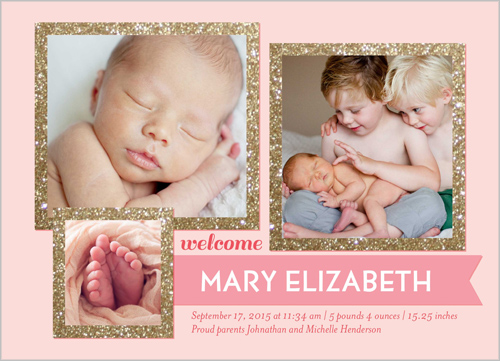 shutterfly birth announcements pink girl OMG Photos – Announce Birth of Baby Girl
