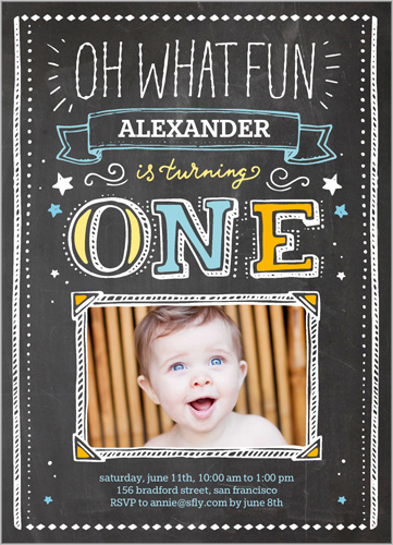 1st birthday invites shutterfly boy OMG Photos