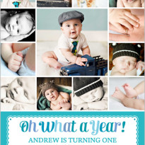 1st birthday invites - multiple photos from shutterfly