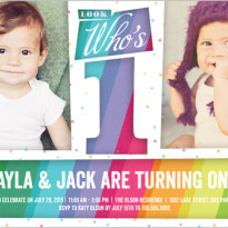 discount 1st birthday invitations for twins shutterfly