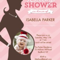 baby girl shower sonogram invite photo