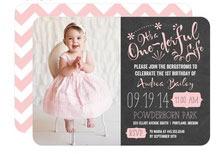 cheap 1st birthday invites girl