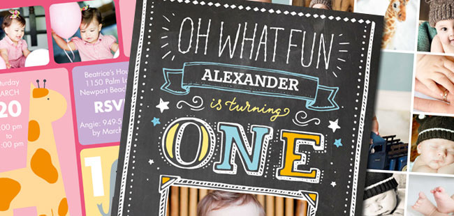 1st birthday party invites shutterfly coupon