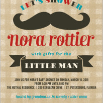 baby boy shower invite with mustache little man