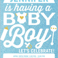 baby boy blue shower invitaiton from shutterfly