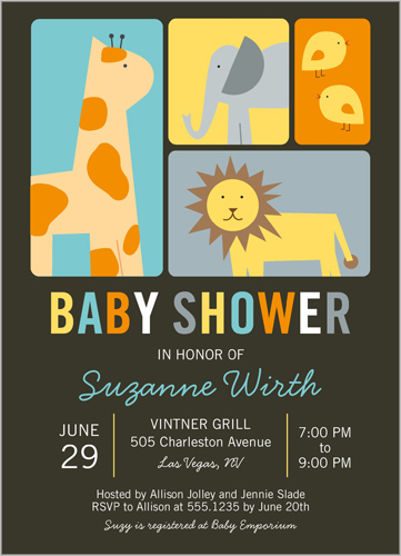 shutterfly baby shower invites zoo animals  omg photos, Baby shower invitation