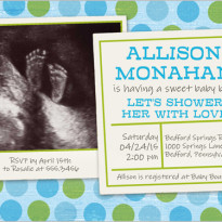 baby shower invitation with ultrasound picture