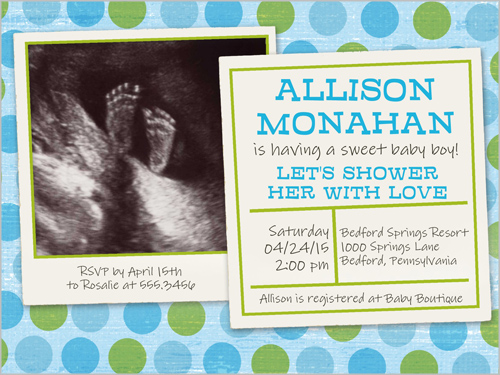 Shutterfly Shower Invitations with adorable invitations sample