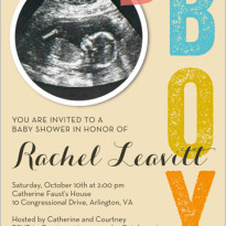 baby girl ultrasound or sonogram photo invitations