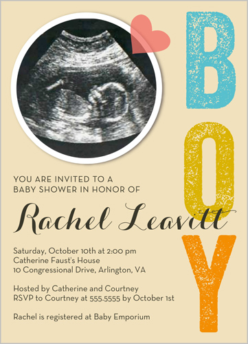 Baby Shower Invitations: Why Not Use an Ultrasound or Sonogram ...