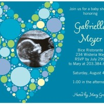 baby shower invitation with sonogram photo from tinyprints.com