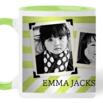 photo mug colored shutterfly stripes