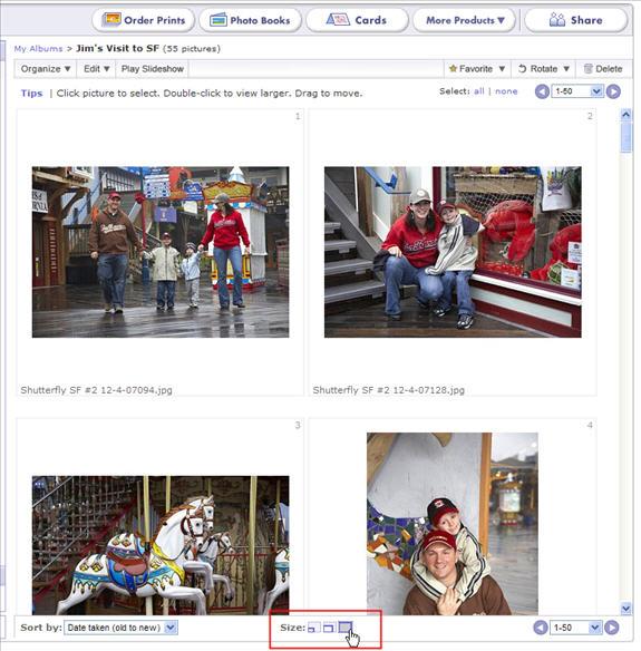 upload organize prints on shutterfly