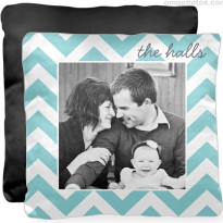 black white photo pillow