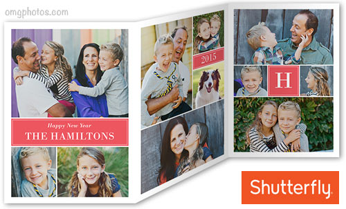 tri fold christmas card from shutterfly