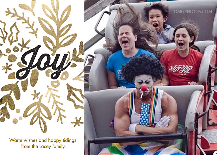funny holiday cards roller coaster