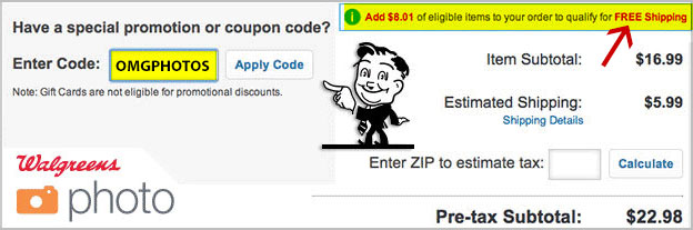 enter walgreens photo coupon code