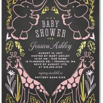 tiny prints baby shower invitation