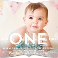 tiny prints first birthday coupon
