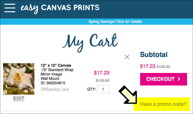 my canvas prints promo code