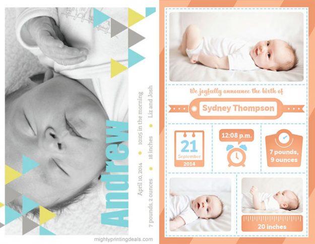 birth announcements vistaprint coupon