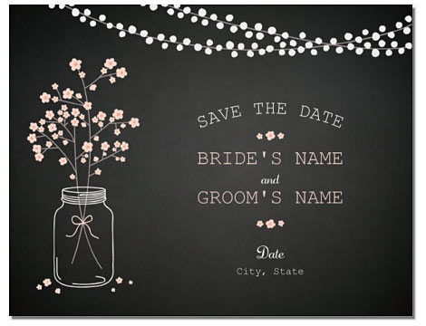vistaprint save date mason jar