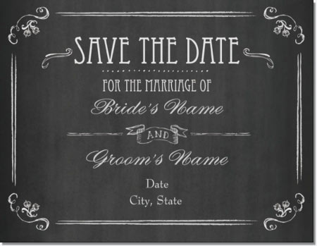 vistaprint save date vintage